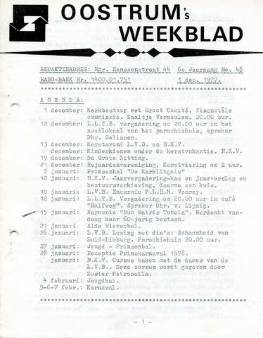 Oostrum's Weekblad 1977-12-01