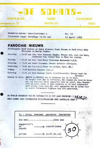 Castenrays dorpsblad De Schans 1983-04-15