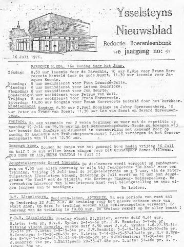 Ysselsteyns Nieuwsblad 1976-07-16