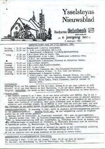 Ysselsteyns Nieuwsblad 1982-02-05