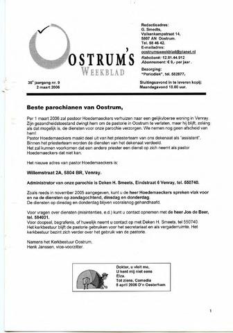 Oostrum's Weekblad 2006-03-02
