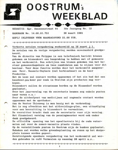 Oostrum's Weekblad 1981-03-26