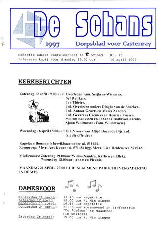 Castenrays dorpsblad De Schans 1997-04-10