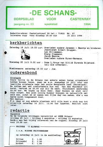Castenrays dorpsblad De Schans 1994-07-15