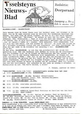Ysselsteyns Nieuwsblad 1997-10-31