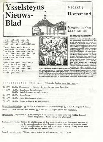 Ysselsteyns Nieuwsblad 1993-07-09