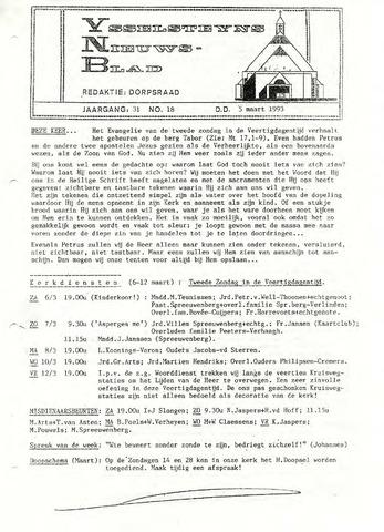 Ysselsteyns Nieuwsblad 1993-03-05