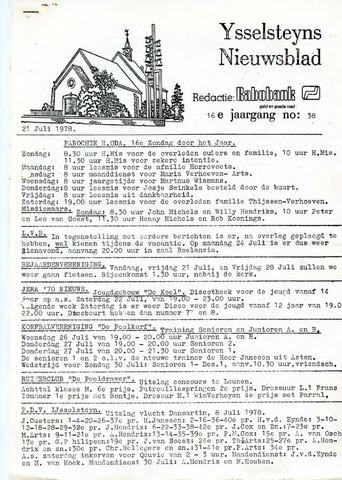 Ysselsteyns Nieuwsblad 1978-07-21