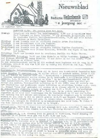 Ysselsteyns Nieuwsblad 1977-08-12