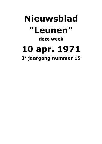 Dorpsblad Leunen-Veulen-Heide 1971-04-10