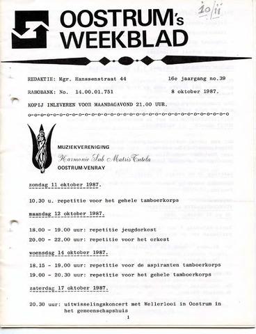 Oostrum's Weekblad 1987-10-08