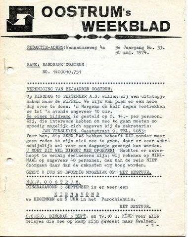 Oostrum's Weekblad 1974-08-30
