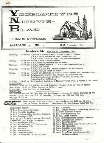Ysselsteyns Nieuwsblad 1986-12-05