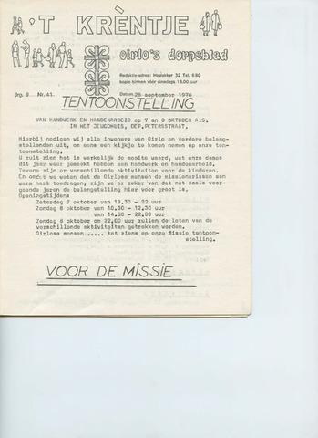 Oirlo's dorpsblad 't Krèntje 1978-09-28