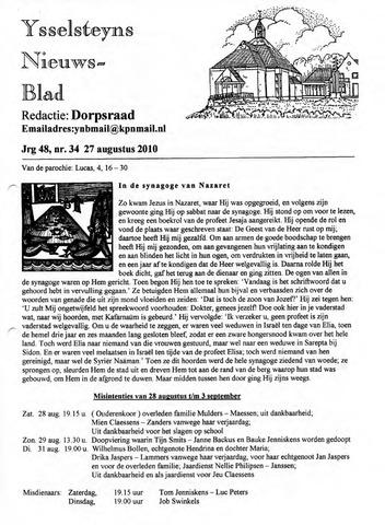 Ysselsteyns Nieuwsblad 2010-08-27