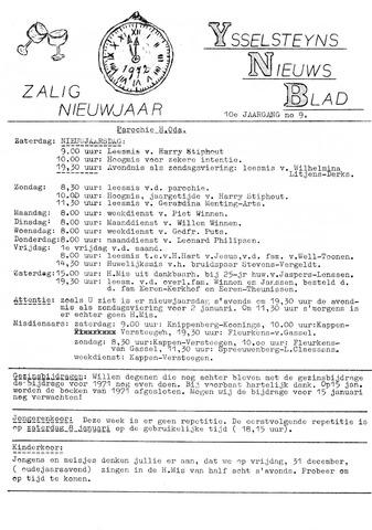 Ysselsteyns Nieuwsblad 1971-12-31