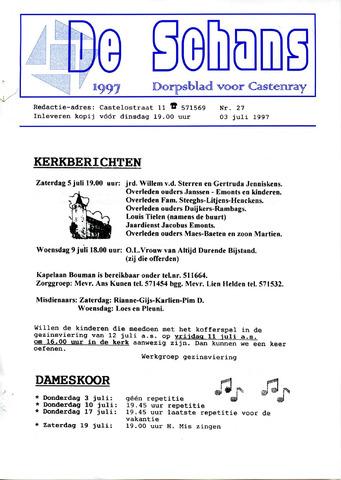 Castenrays dorpsblad De Schans 1997-07-03