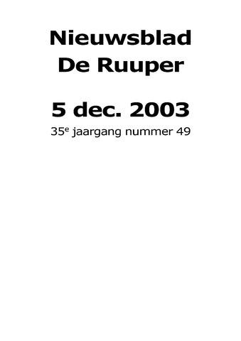 Dorpsblad Leunen-Veulen-Heide 2003-12-05