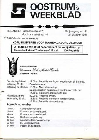Oostrum's Weekblad 1991-10-24