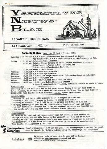 Ysselsteyns Nieuwsblad 1986-06-27