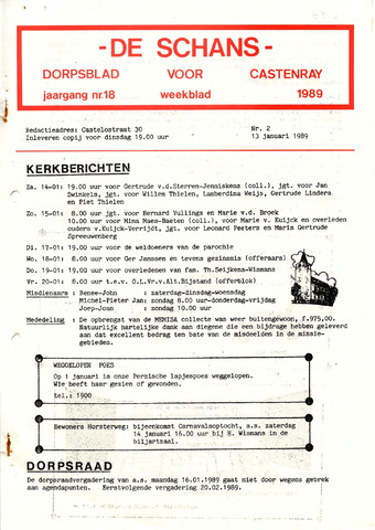 Castenrays dorpsblad De Schans 1989-01-13
