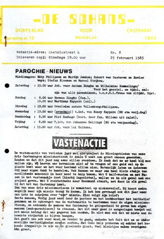 Castenrays dorpsblad De Schans 1983-02-25