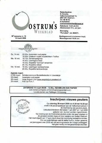 Oostrum's Weekblad 2009-03-12
