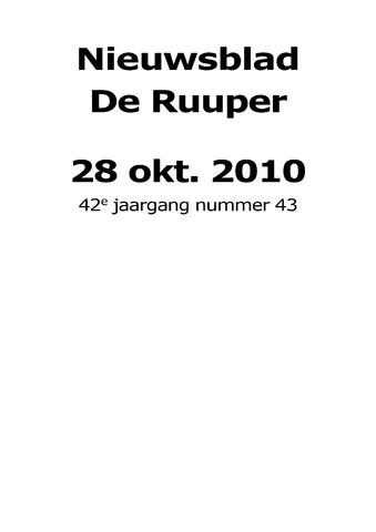 Dorpsblad Leunen-Veulen-Heide 2010-10-28