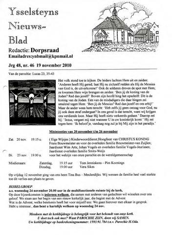 Ysselsteyns Nieuwsblad 2010-11-19