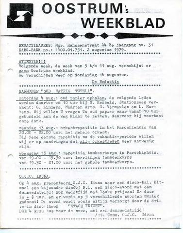Oostrum's Weekblad 1979-08-02
