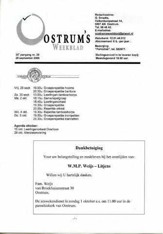 Oostrum's Weekblad 2006-09-28