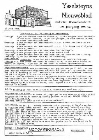 Ysselsteyns Nieuwsblad 1974-07-26