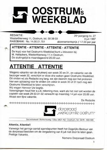 Oostrum's Weekblad 1997-07-03