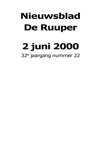 Dorpsblad Leunen-Veulen-Heide 2000-06-02