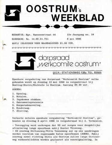 Oostrum's Weekblad 1986-05-08