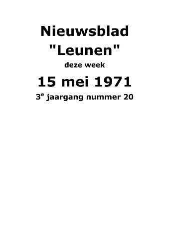 Dorpsblad Leunen-Veulen-Heide 1971-05-15