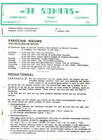 Castenrays dorpsblad De Schans 1981