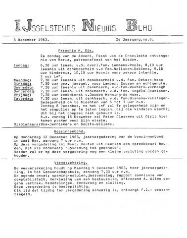 Ysselsteyns Nieuwsblad 1963-12-05