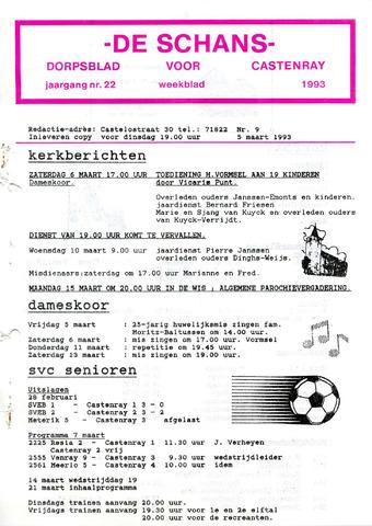Castenrays dorpsblad De Schans 1993-03-05