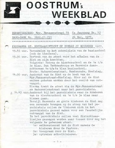 Oostrum's Weekblad 1977-11-24