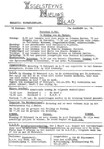 Ysselsteyns Nieuwsblad 1972-02-18