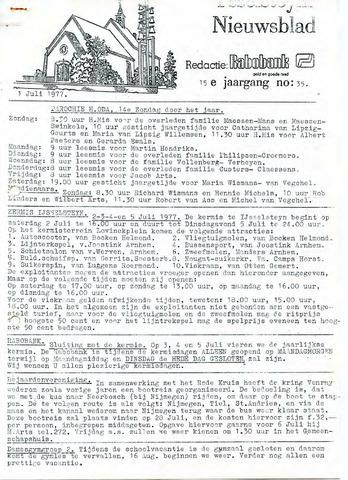 Ysselsteyns Nieuwsblad 1977-07-01