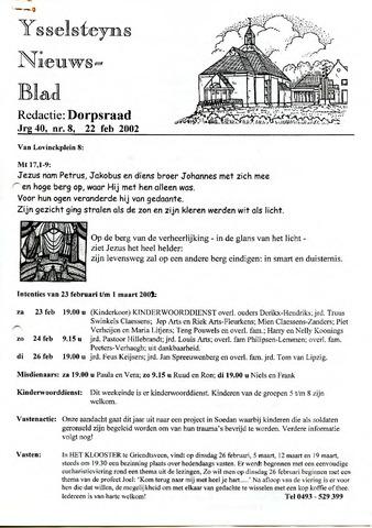 Ysselsteyns Nieuwsblad 2002-02-22