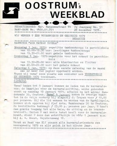 Oostrum's Weekblad 1978-12-28