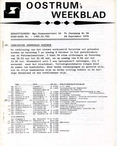 Oostrum's Weekblad 1978-09-28