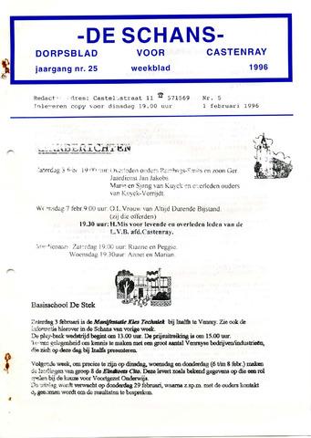 Castenrays dorpsblad De Schans 1996-02-01