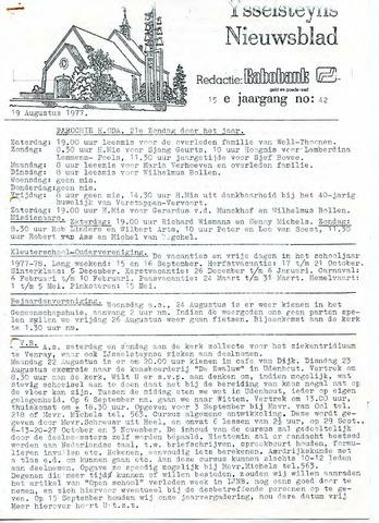 Ysselsteyns Nieuwsblad 1977-08-19