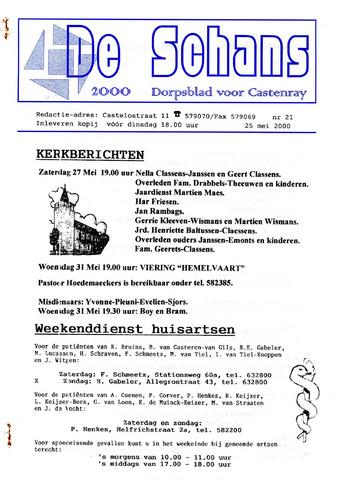 Castenrays dorpsblad De Schans 2000-05-25