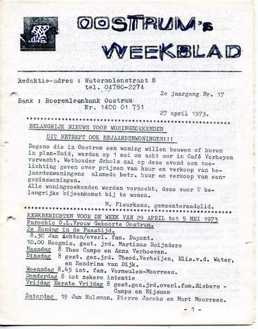Oostrum's Weekblad 1973-04-27