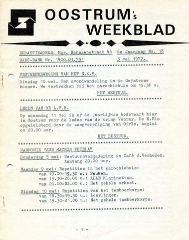 Oostrum's Weekblad 1977-05-05
